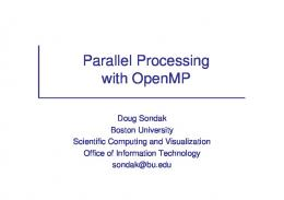 Parallel Processing with OpenMP - cOMPunity