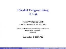Parallel Programming in C#