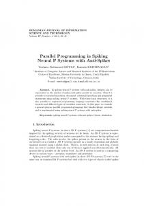 Parallel Programming in Spiking Neural P Systems with ... - ROMJIST