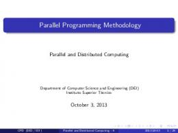 Parallel Programming Methodology