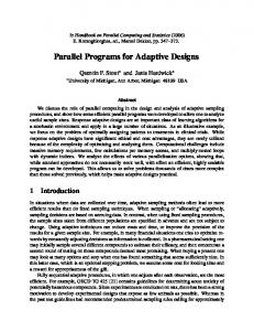 Parallel Programs for Adaptive Designs - EECS @ Michigan