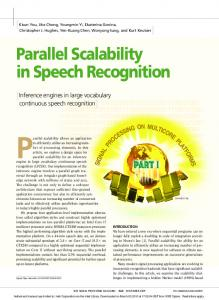 Parallel Scalability in Speech Recognition - CiteSeerX