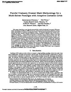 Parallel Unsteady Overset Mesh Methodology for a Multi-Solver ...