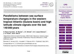 Parallelisms between sea surface temperature ... - Semantic Scholar