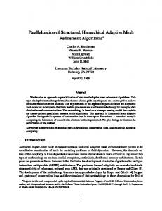 Parallelization of Structured, Hierarchical Adaptive Mesh Refinement ...
