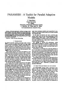 PARAMESH : A Toolkit for Parallel Adaptive Models - NASA ESTO
