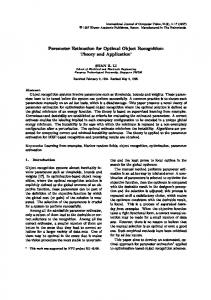 Parameter Estimation for Optimal Object Recognition: Theory and