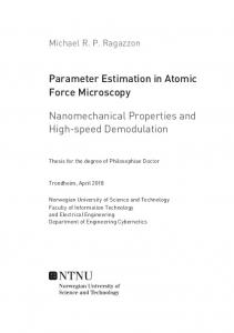 Parameter Estimation in Atomic Force Microscopy: Nanomechanical ...