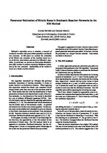 Parameter Estimation of Kinetic Rates in Stochastic Reaction ...