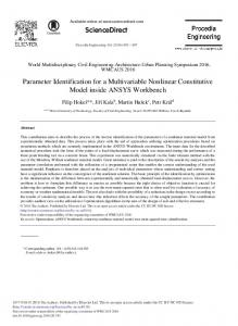 Parameter Identification for a Multivariable Nonlinear ... - Core