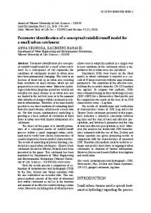 Parameter identification of a conceptual rainfall-runoff model for a ...
