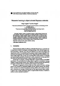 Parameter learning in object-oriented Bayesian networks - CiteSeerX