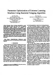Parameter Optimization of Extreme Learning Machine ... - CiteSeerX