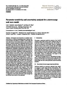 Parameter sensitivity and uncertainty analysis for a storm surge and ...