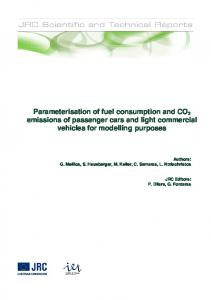 Parameterisation of fuel consumption and CO2 emissions of ...