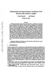 Parameterized and approximation complexity of the detection pair ...