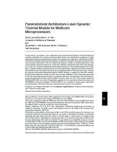Parameterized architecture-level dynamic ... - ACM Digital Library