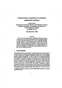 Parameterized complexity of constraint satisfaction problems