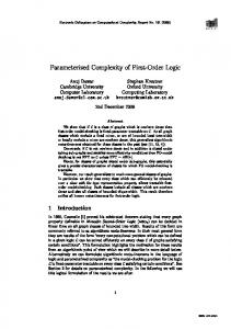 Parameterized Complexity of First-Order Logic