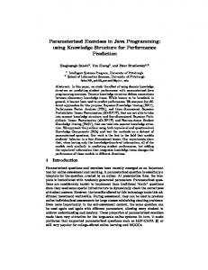 Parameterized Exercises in Java Programming ... - Semantic Scholar