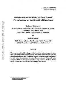 Parameterizing the Effect of Dark Energy Perturbations on the Growth ...