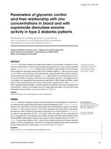 Parameters of glycemic control and their ... - Semantic Scholar