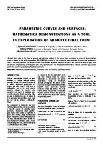 parametric curves and surfaces: mathematica ... - doiSerbia