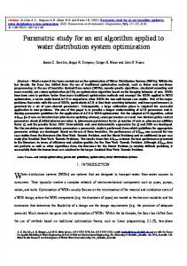 Parametric study for an ant algorithm applied to water ...