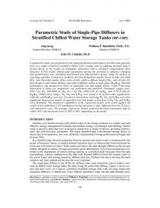 Parametric Study of Single-Pipe Diffusers in Stratified Chilled Water ...