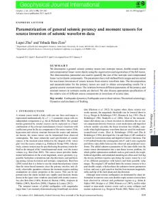 Parametrization of general seismic potency and ...