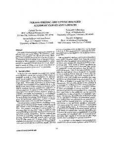 Parametrizing and fitting bounded algebraic curves and surfaces ...