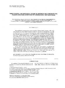 parasitological and serological studies on ... - Semantic Scholar