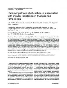 Parasympathetic dysfunction is associated with insulin resistance in ...