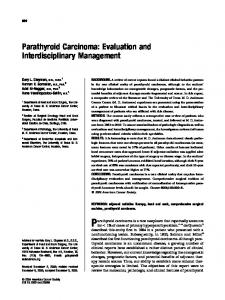 Parathyroid carcinoma - Wiley Online Library