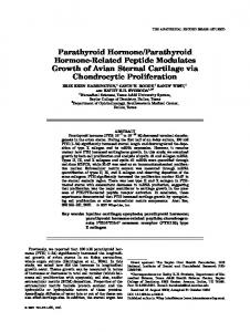 Parathyroid hormone/parathyroid hormone ... - Wiley Online Library