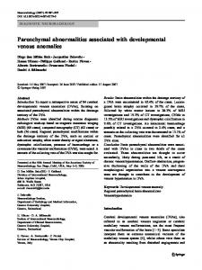 Parenchymal abnormalities associated with ... - Springer Link