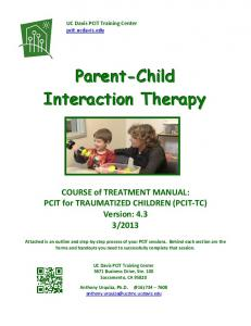 Parent-Child Interaction Therapy COURSE of TREATMENT MANUAL