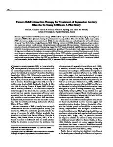 Parent-Child Interaction Therapy for Treatment of ... - CiteSeerX