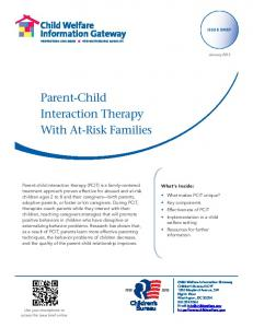 Parent-Child Interaction Therapy With At-Risk Families