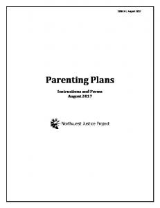 parenting plan and child support packet - Washington LawHelp