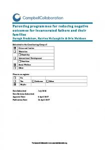 Parenting programmes for reducing negative outcomes for ...