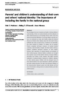 Parents' and children's understanding of their own and others' national