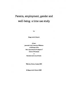 Parents, employment, gender and well-being: a time use ... - UWSpace