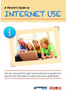 Parents' Guide to Internet Use - Netbox Blue