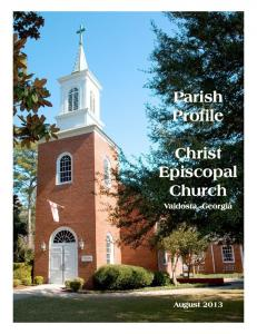 Parish Profile - Christ Episcopal Church