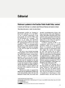 Parkinson's patients in the Brazilian Public Health Policy context