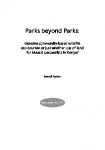 Parks beyond Parks - CiteSeerX