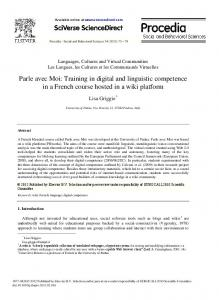Parle avec Moi: Training in digital and linguistic ... - CyberLeninka