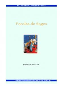 Paroles de sages - Patrick Giani