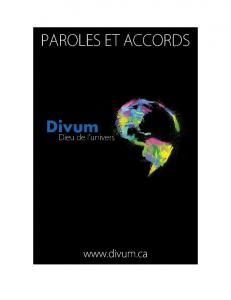 PAROLES ET ACCORDS - Divum